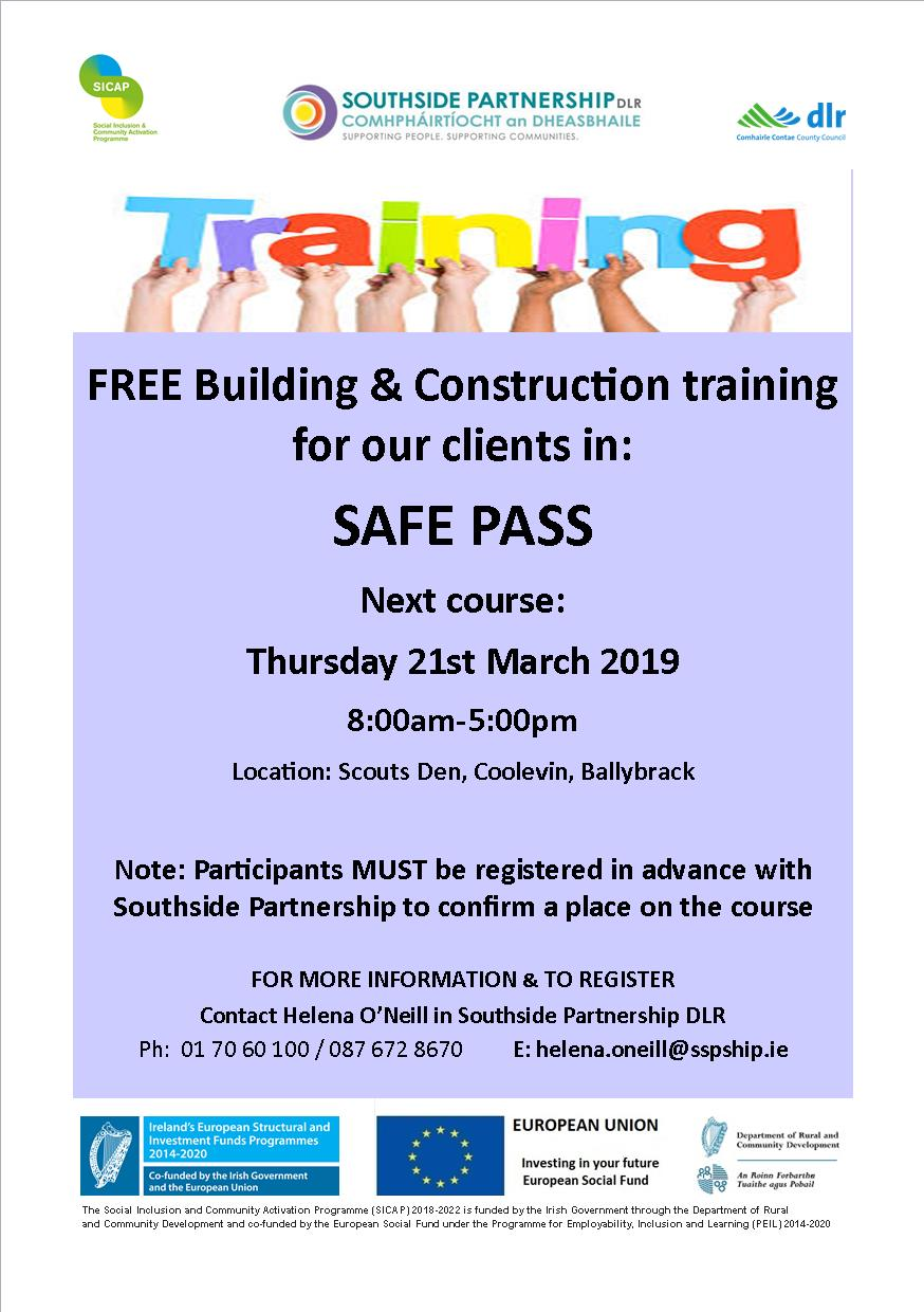 FREE SAFE PASS TRAINING - Southside Partnership